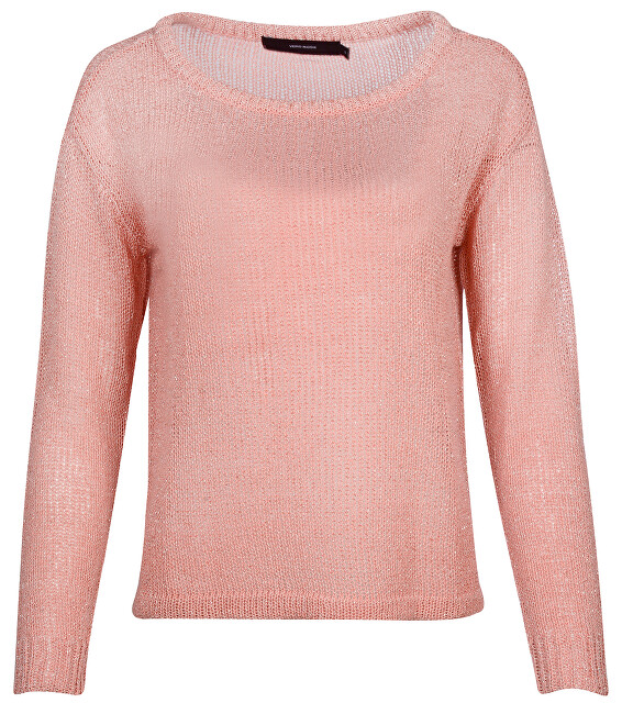 Vero Moda Dámsky sveter Rylia Ls Wide Boatneck Blouse Strawberry Ice XS