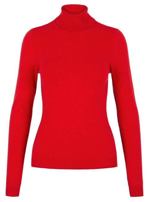 Vero Moda Pulover pentru femei VMHAPPY BASIC LS ROLLNECK Blouse High Risk Red L