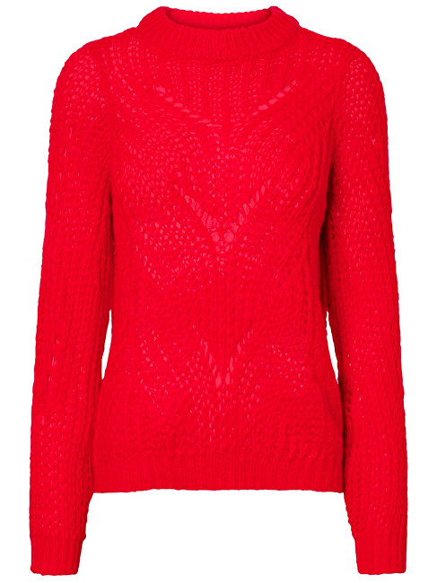 Vero Moda Dámsky sveter Wishi Light Ls O-neck Blouse Chinese Red S
