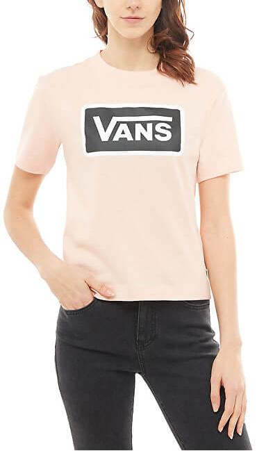 VANS Dámske tričko Boom Boom Boxy Rose Cloud VA3PFFOBJ S
