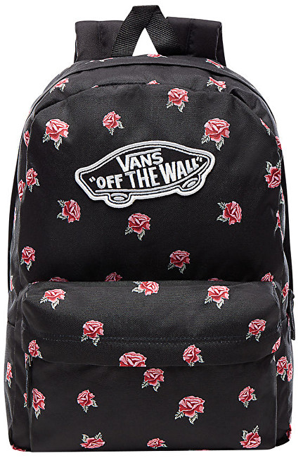 VANS Dámsky batoh Realm Backpack Black Rose VA3UI6RDU