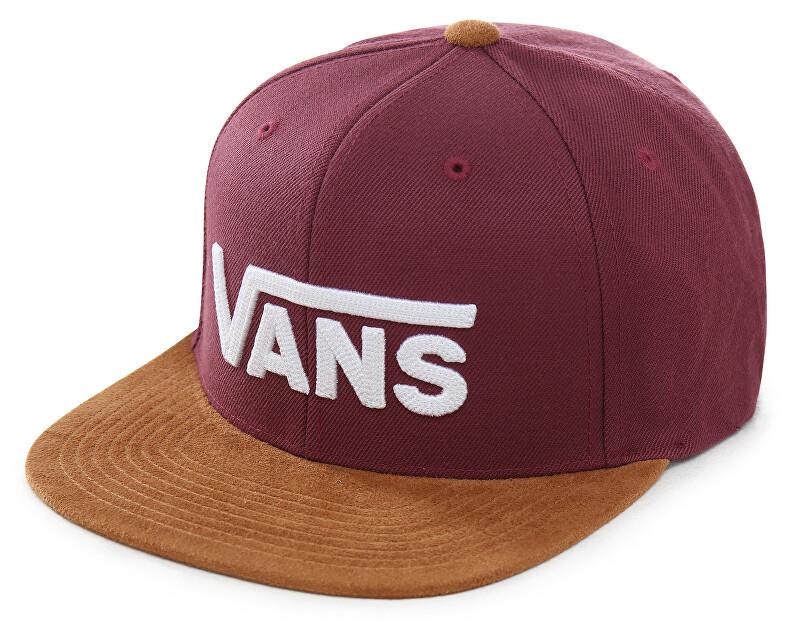 VANS Pánská kšiltovka Drop V II Snapback Prune/Khaki VN0A36ORTQV1