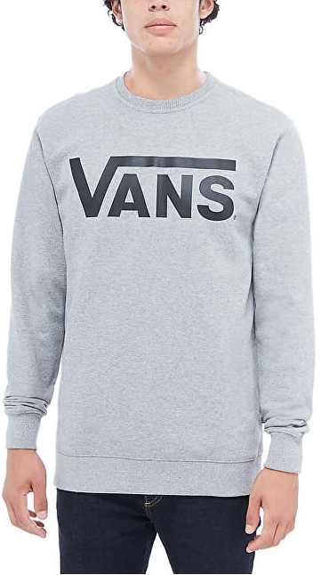 VANS Pánska mikina Vans Class ic Crew Cement Heather-Black VN000YX0ADY1 M