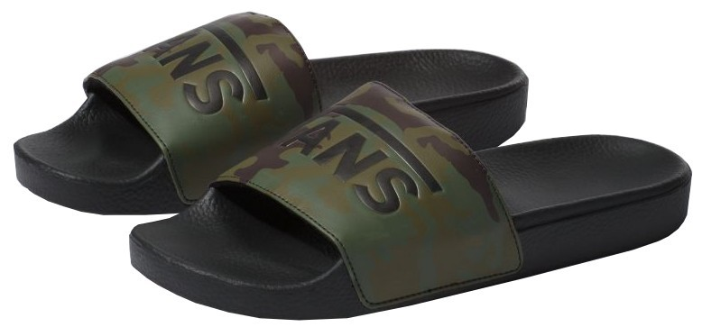 VANS Șlapi pentru bărbați Slide-On (Camo) Black/Green 43