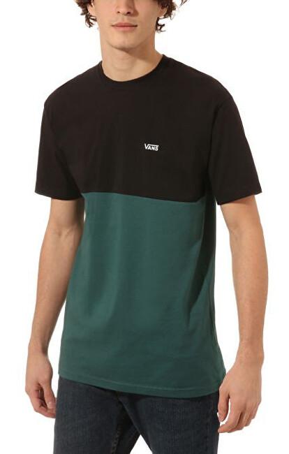 VANS Pánske tričko Colorblock Tee Black/Vans Trekking Green VN0A3CZDTNB1 XXL