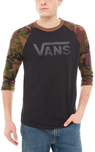 VANS Pánske tričko Vans Classic Raglan Black Camo V002QQBLR M 11707d66ee2