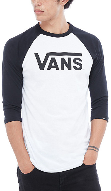 VANS Pánske tričko Vans Classic Raglan White/Black VN0002QQYB21 XXL