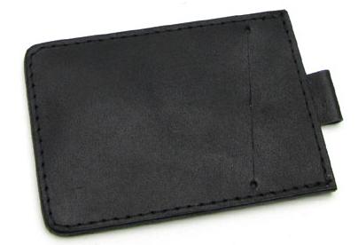 Wildskin Černá kožená dokladovka 200010