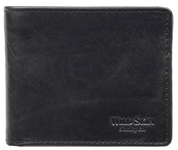 Wildskin Kožená peňaženka Gordon čierna