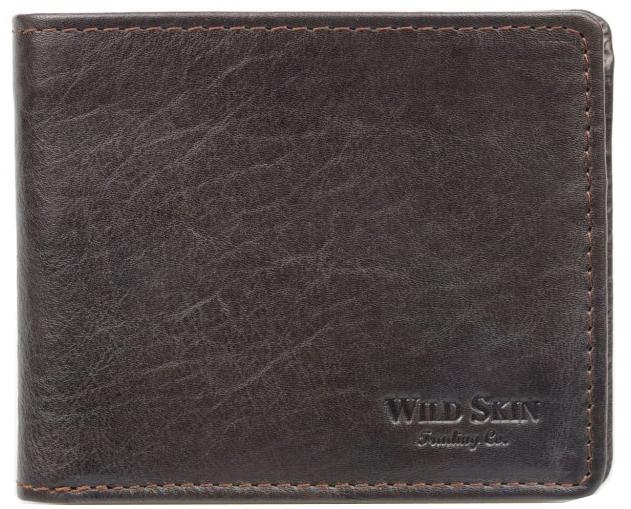 Wildskin Kožená peňaženka Gordon hnedá