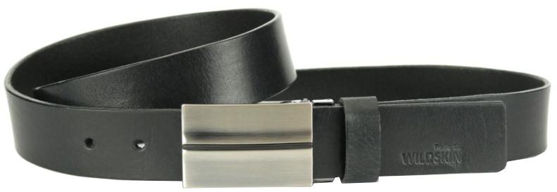 Wildskin Kožený opasok 9512 čierny 120 cm