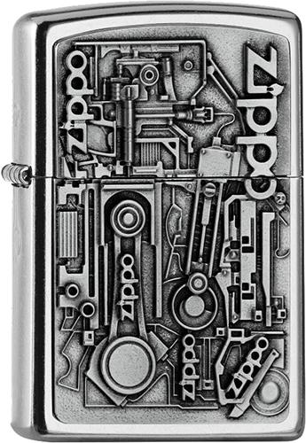 Zippo Benzínový zapaľovač Motor Parts 25557