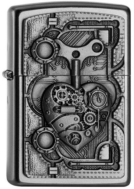 Zippo Benzínový zapaľovač Steampunk Heart 20407