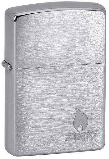 Zippo Benzínový zapaľovač Logo & Flame 21633