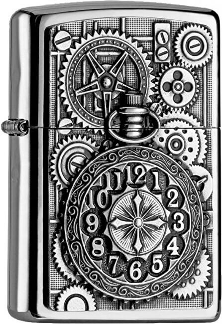 Zippo Benzínový zapaľovač Pocket Watch 22970