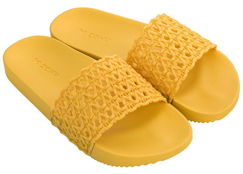 Zaxy Doamnelor papuci Snap Mesh Slide Fem 17669-90106 Yellow 35-36