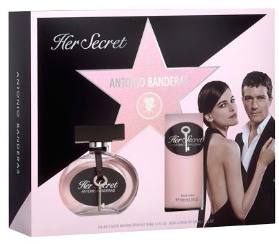 Antonio Banderas Her Secret - EDT 50 ml + tělové mléko 100 ml