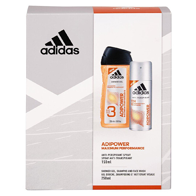 Adidas Adipower - deodorant ve spreji 150 ml + sprchový gel 250 ml