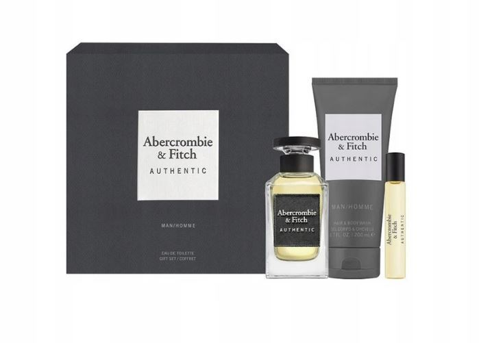 Abercrombie   Fitch Authentic Man - EDT 100 ml   sprchový gel 200 ml   EDT 15 ml