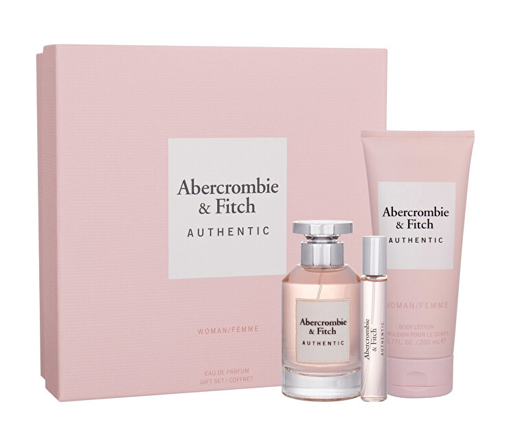 Abercrombie   Fitch Authentic Woman - EDP 100 ml   sprchový gel 200 ml   EDP 15 ml