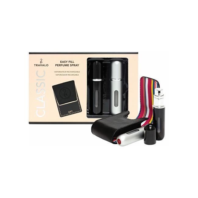 Travalo Classic plnitelný rozprašovač parfémů 2 x 5 ml + pouzdro 6,5 x 8,5 cm dárková sada