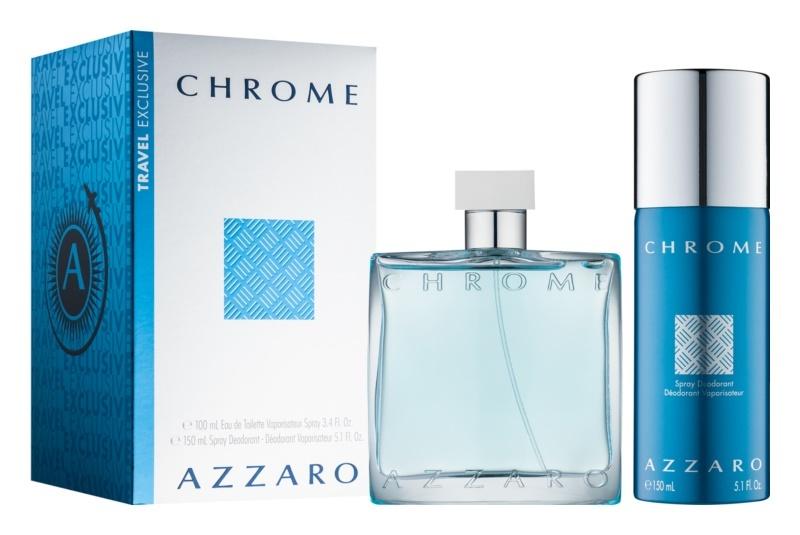 Azzaro Chrome - EDT 100 ml + deodorant v spreji 150 ml