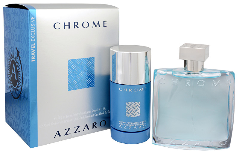 Azzaro Chrome - EDT 100 ml + tuhý deodorant 75 ml