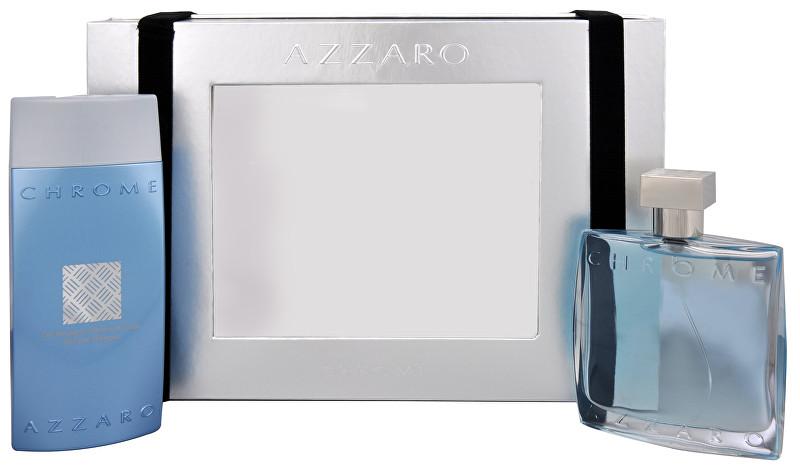 Fotografie Azzaro Chrome toaletní voda s rozprašovačem + sprchový gel 100 ml + 200 ml