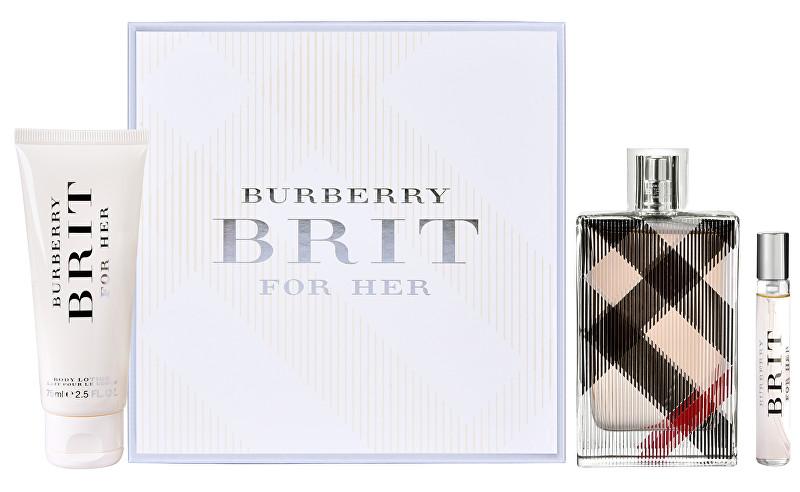 Burberry Brit - EDP 100 ml + tělové mléko 75 ml + EDP 7,5 ml