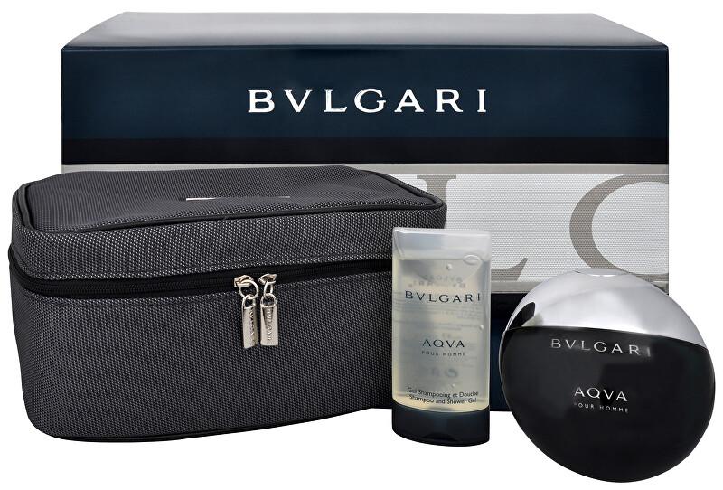Bvlgari Aqva Pour Homme - toaletná voda s rozprašovačom 100 ml + sprchový gél 75 ml + kozmetická taška