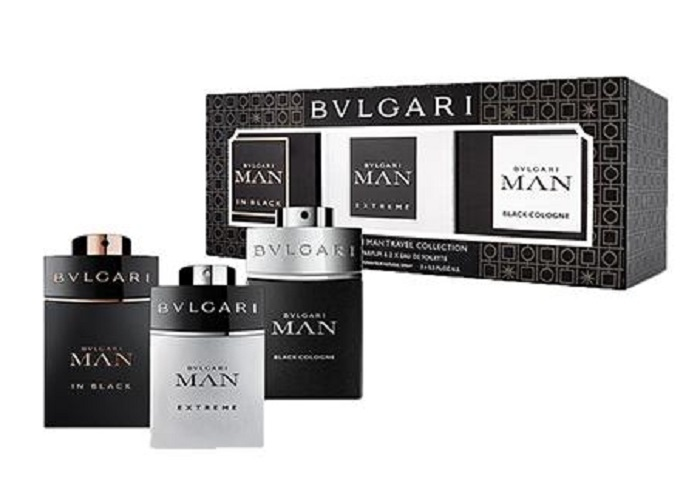 Bvlgari Man in Black EDP 15 ml + Man Extreme EDT 15 ml + Man Black Cologne EDT 15 ml pro muže dárková sada