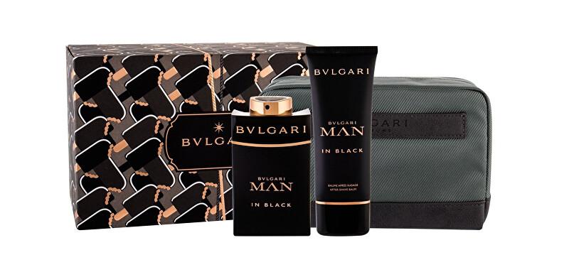 Bvlgari Man In Black - EDP 100 ml + balzám po holení 100 ml + kosmetická taštička