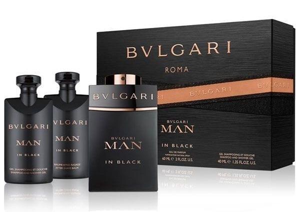 Bvlgari Man In Black - EDP 60 ml + sprchový gel 40 ml + balzám po holení 40 ml