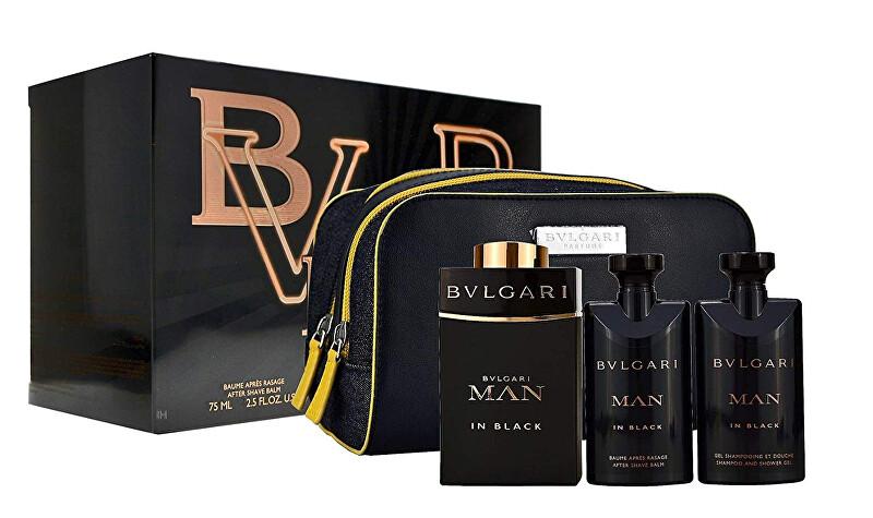Bvlgari Man In Black - EDT 100 ml + balzám po holení 75 ml + sprchový gel 75 ml + kosmetická taštička