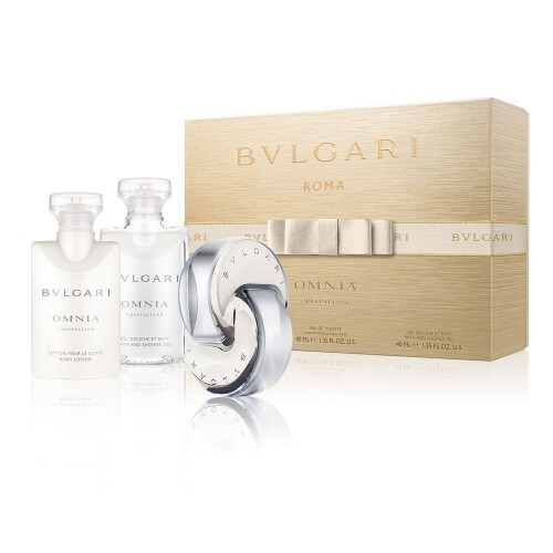 Bvlgari Omnia Crystalline - EDT 40 ml + telové mlieko 40 ml + sprchový gél 40 ml