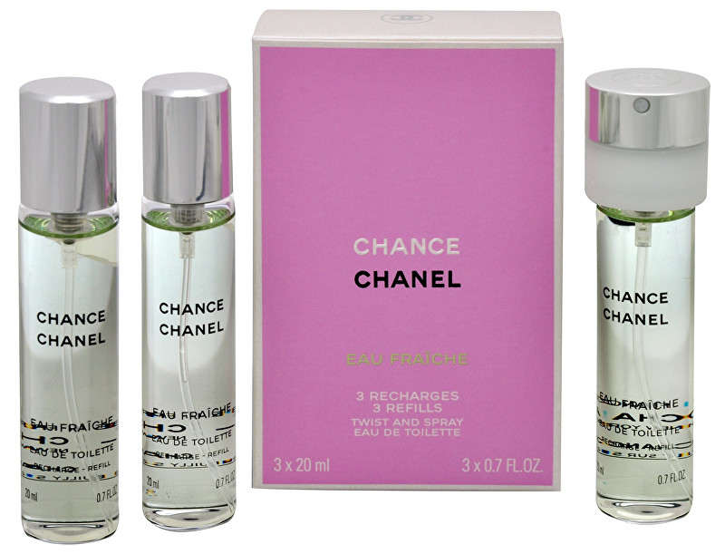 Chanel Chance Eau Fraiche - EDT náplň (3 x 20 ml) 60 ml
