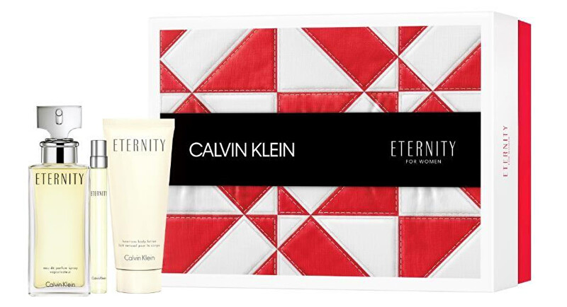 Calvin Klein Eternity - EDP 100 ml + telové mlieko 100 ml + EDP 10 ml
