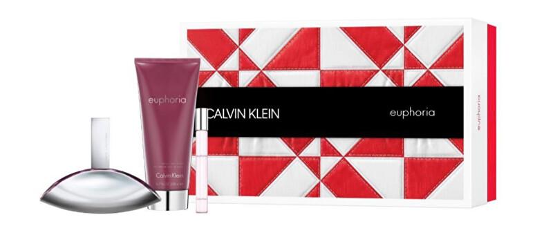 Calvin Klein Euphoria - EDP 100 ml + tělové mléko 200 ml + EDP 10 ml