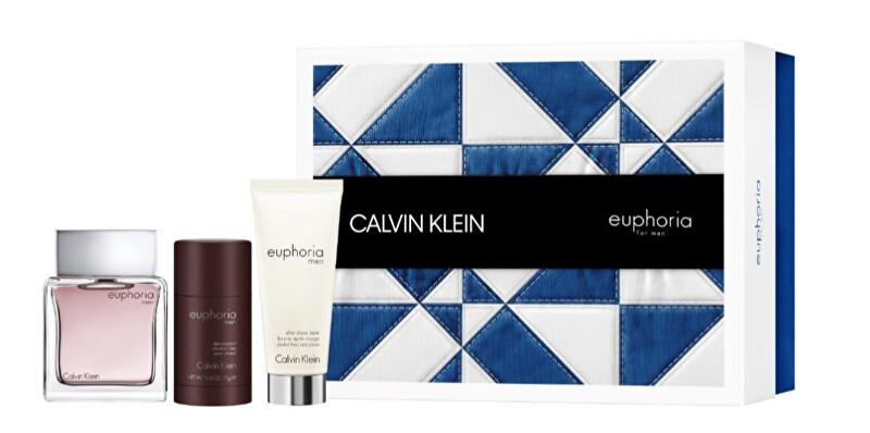 Calvin Klein Euphoria Men - EDT 100 ml + balzám po holení 100 ml + tuhý deodorant 75 ml
