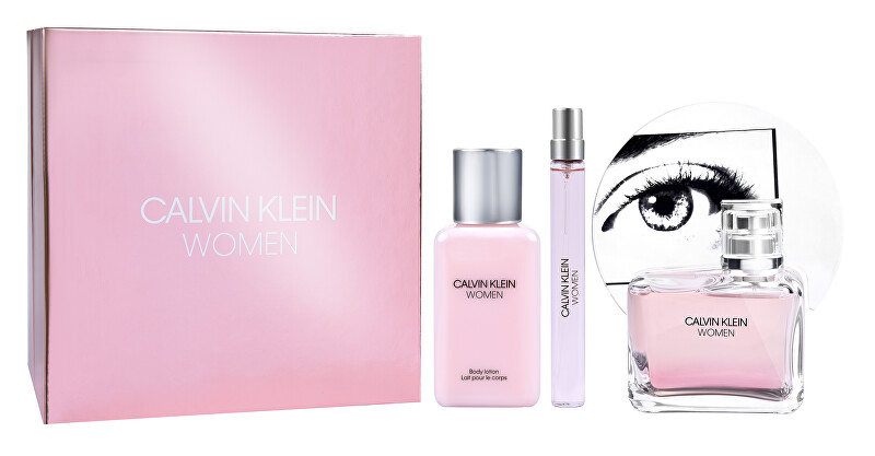 Calvin Klein Women - EDP 100 ml + telové mlieko 100 ml + EDP 10 ml