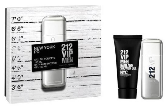 Carolina Herrera 212 VIP Men - EDT 100 ml + sprchový gél 100 ml