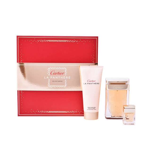 Cartier La Panthere - EDP 75 ml + tělové mléko 100 ml + EDP 9 ml