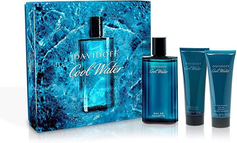 Davidoff Cool Water Man - EDT 125 ml + sprchový gel 75 ml + balzám po holení 75 ml