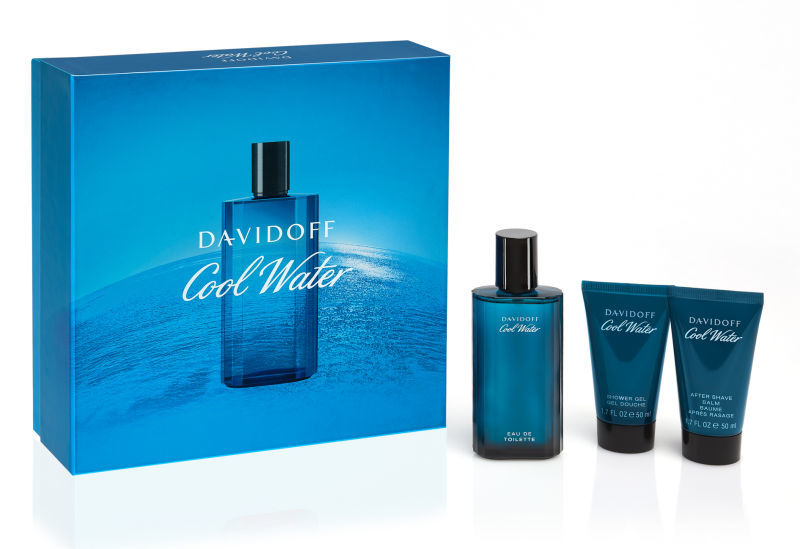 Davidoff Cool Water Man - EDT 75 ml + sprchový gél 50 ml + balzám po holení 50 ml