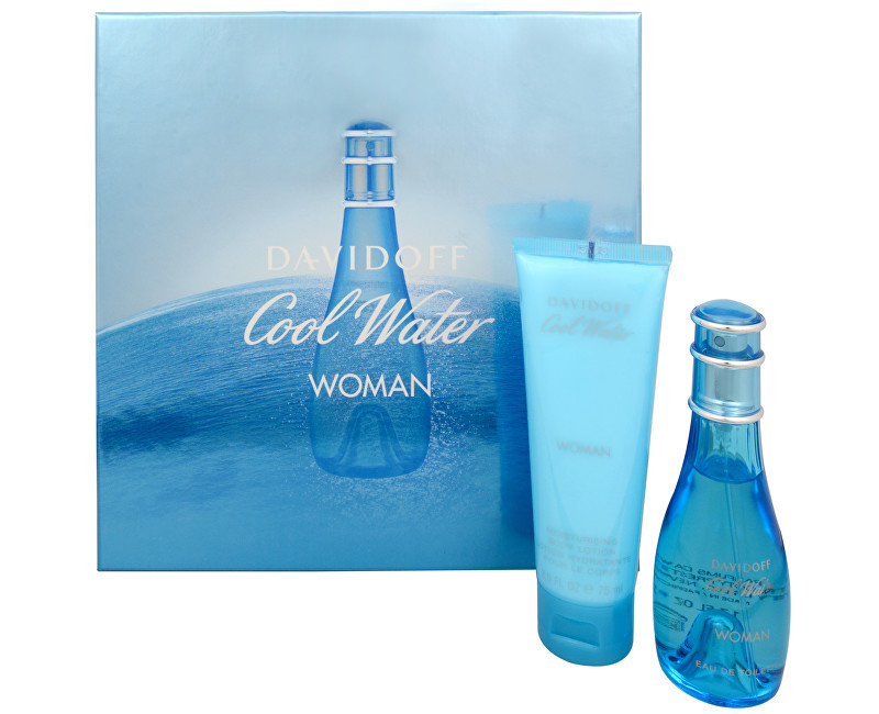 Davidoff Cool Water Wave Woman - EDT 50 ml + tělové mléko 75 ml