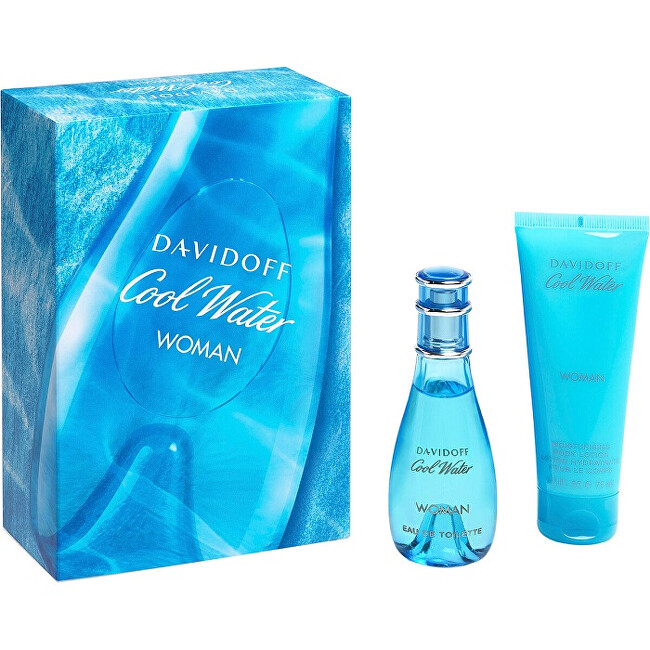 Davidoff Cool Water Woman - EDT 30 ml   telové mlieko 75 ml