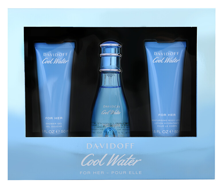 Davidoff Cool Water Woman - EDT 50 ml + tělové mléko 50 ml + sprchový gel 50 ml
