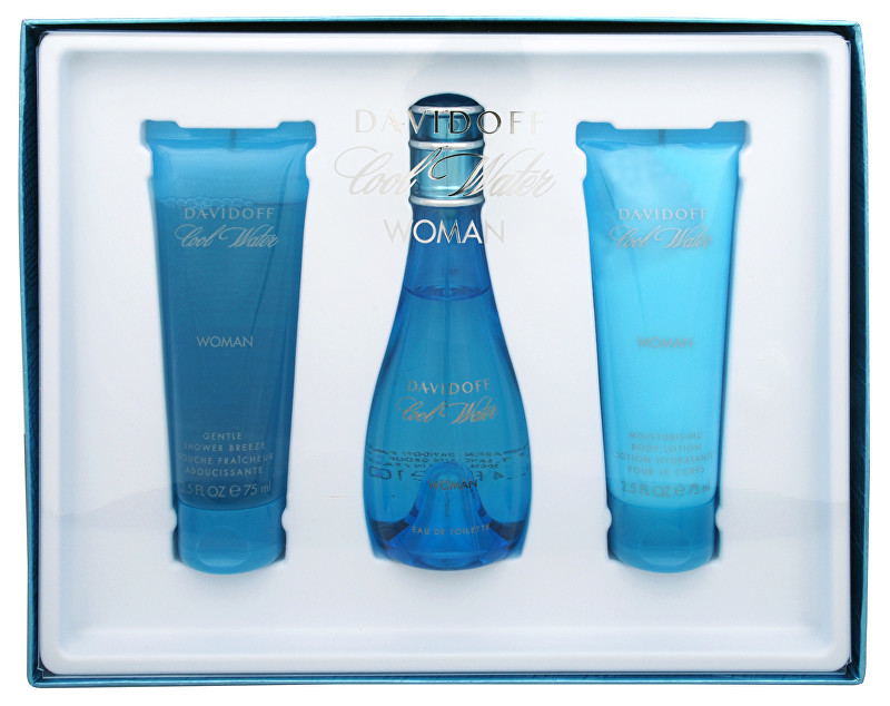 Davidoff Cool Water Woman - EDT 100 ml   telové mlieko 75 ml   sprchový gél 75 ml