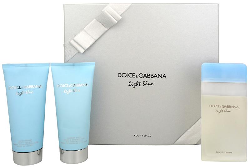 Dolce & Gabbana Light Blue - EDT 100 ml + telový krém 100 ml + kúpeľový a sprchový gél 100 ml