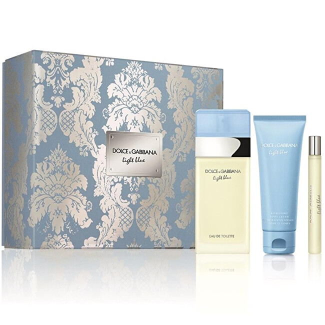 Dolce  Gabbana Light Blue  EDT 100 ml  tělové mléko 75 ml  EDT 10 ml